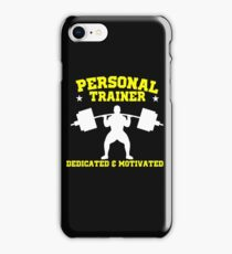 Personal Trainer Fitness Exercise Coach gym coach weightlift iPhone Case/Skin