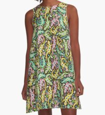 ditsy floreal lizards A-Line Dress