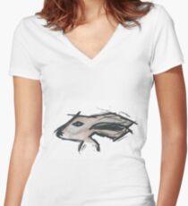 long Hare Women's Fitted V-Neck T-Shirt