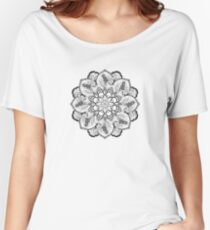 Black and White Mandala Women's Relaxed Fit T-Shirt