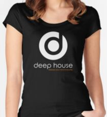 Deep House Music DJ Love the Beats Women's Fitted Scoop T-Shirt