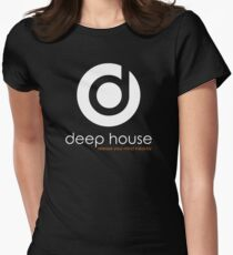 Deep House Music DJ Love the Beats Womens Fitted T-Shirt