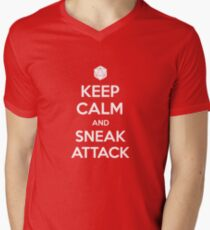 Keep calm and sneak attack Men's V-Neck T-Shirt