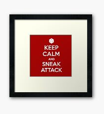Keep calm and sneak attack Framed Print