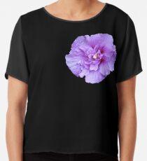 Purple hibiscus flower Chiffon Top