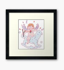 Valentine's day. Funny Cupid  Framed Print