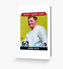 Babe Ruth Baseball Card Greeting Card