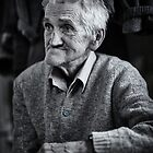 Old man indoor, monochrome toned by naturalis