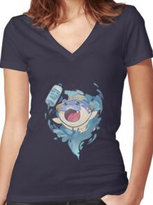 Push your limits Women's Fitted V-Neck T-Shirt
