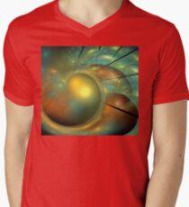 Beach Sky Heart Mens V-Neck T-Shirt