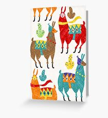color llamas Greeting Card