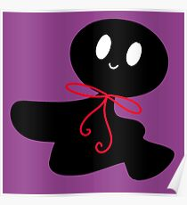 Cute Bow Shadow Ghost Poster