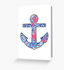 Lilly Starfish Anchor Greeting Card