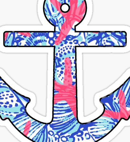 Lilly Starfish Anchor Sticker