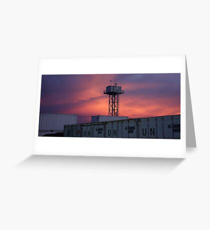 Twilight Tower Greeting Card
