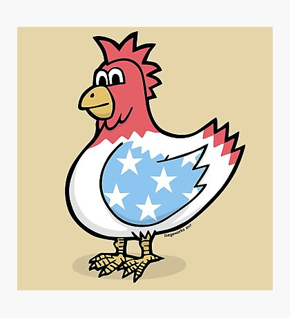 American Style Chicken Photographic Print