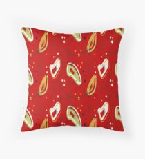 Pretty, Mid Century Modern, Red Abstract Pattern  Throw Pillow