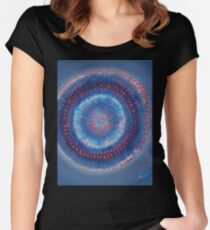 Supernova original painting Women's Fitted Scoop T-Shirt