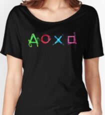 PS4 Controller Buttons Women's Relaxed Fit T-Shirt