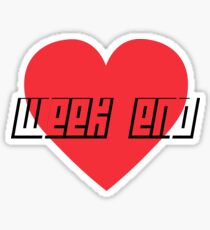Love Week end Sticker