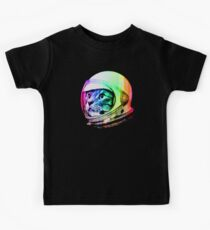 Astronaut Space Cat (digital rainbow version) Kids T-Shirt
