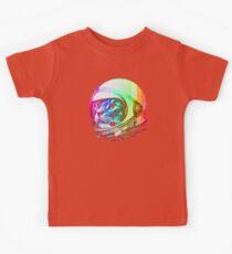 Astronaut Space Cat (digital rainbow version) Kids Tee