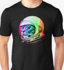 Astronaut Space Cat (digital rainbow version) T-Shirt