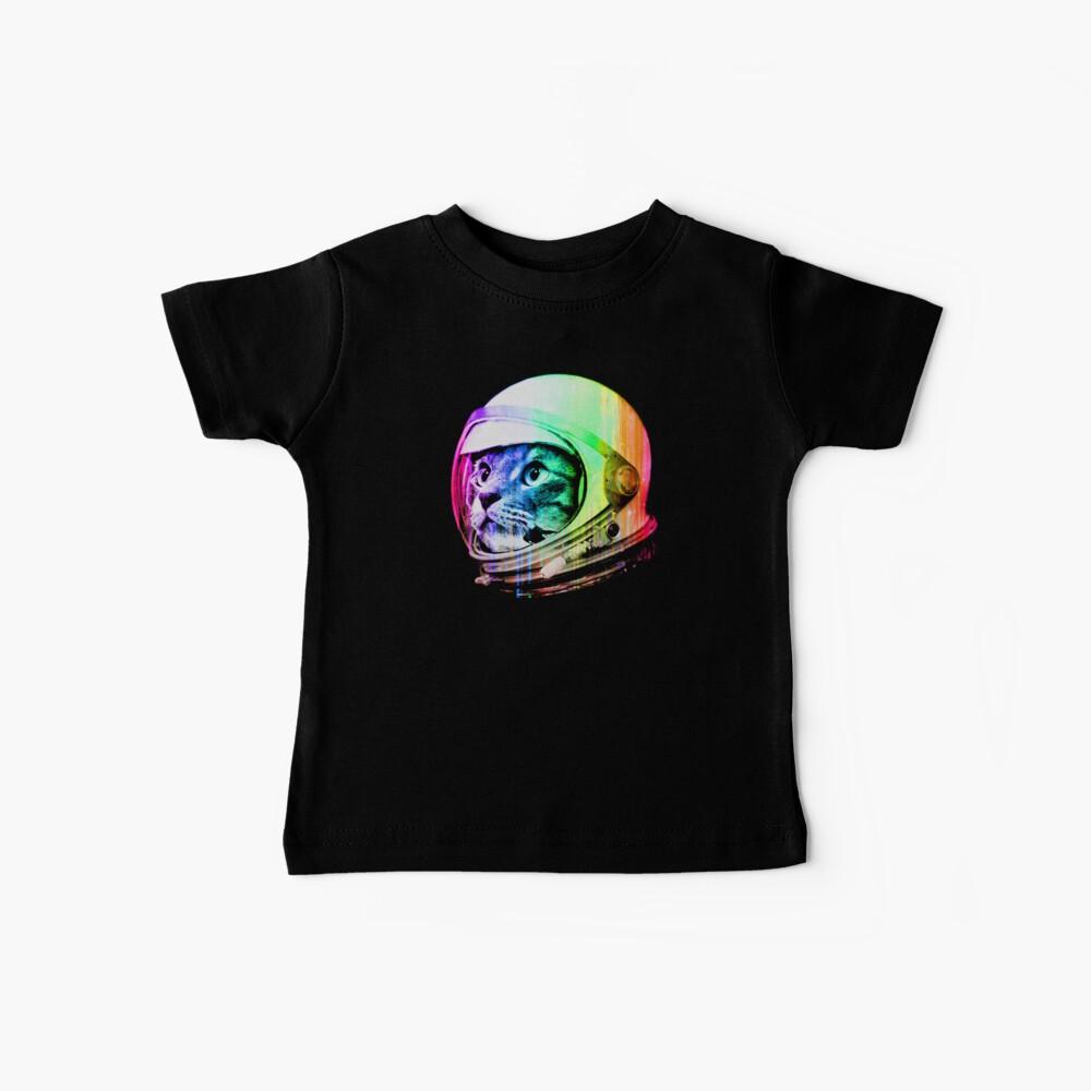 Astronaut Space Cat (digital rainbow version) Baby T-Shirt