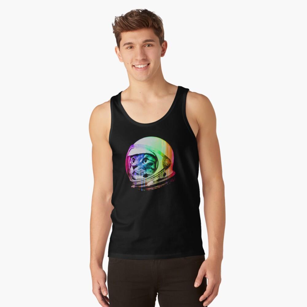 Astronaut Space Cat (digital rainbow version) Tank Top