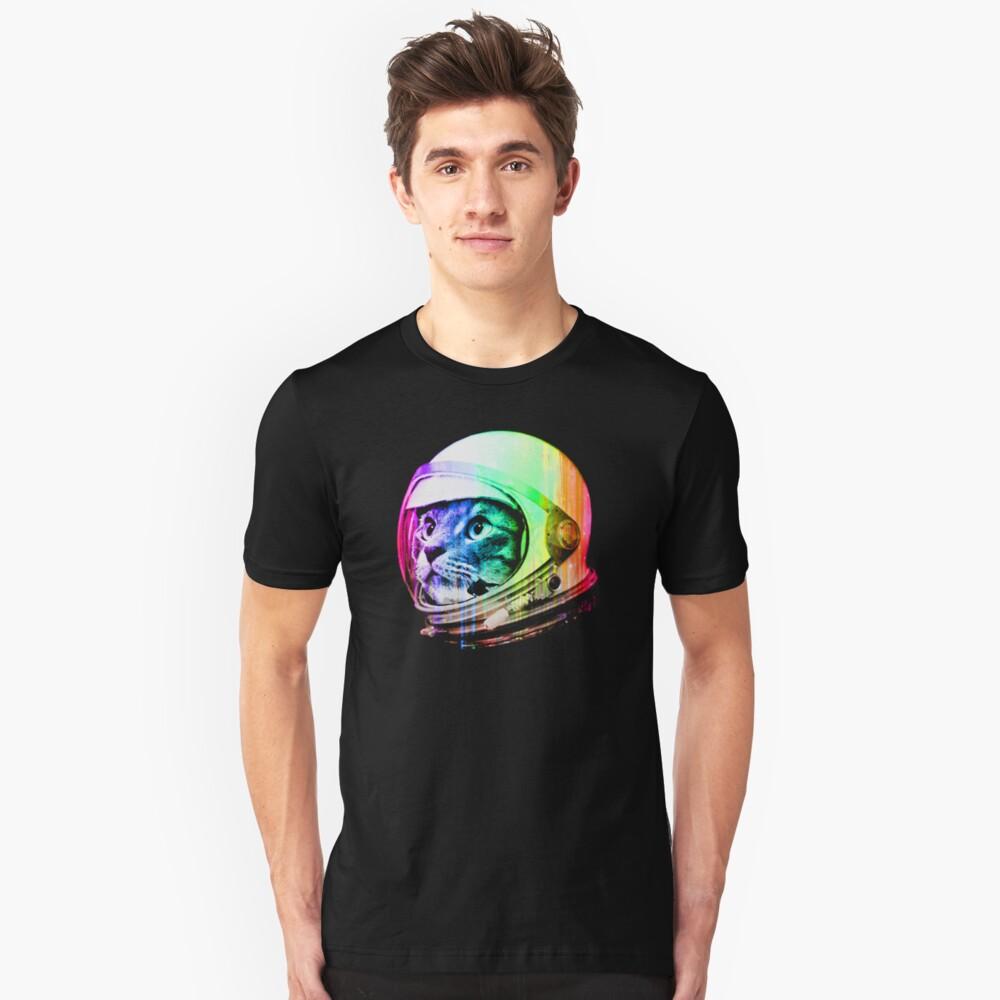 Astronaut Space Cat (digital rainbow version) Slim Fit T-Shirt