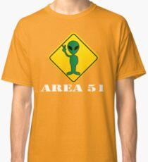 Alien Transit Sign T-shirt Martian UFO Area 51 Tshirt Classic T-Shirt