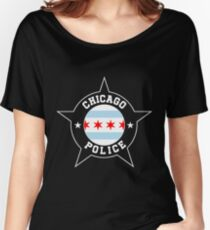Chicago Police T Shirt - Chicago Flag Women's Relaxed Fit T-Shirt