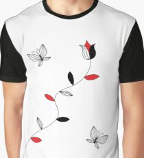 Tulip and butterfly Graphic T-Shirt
