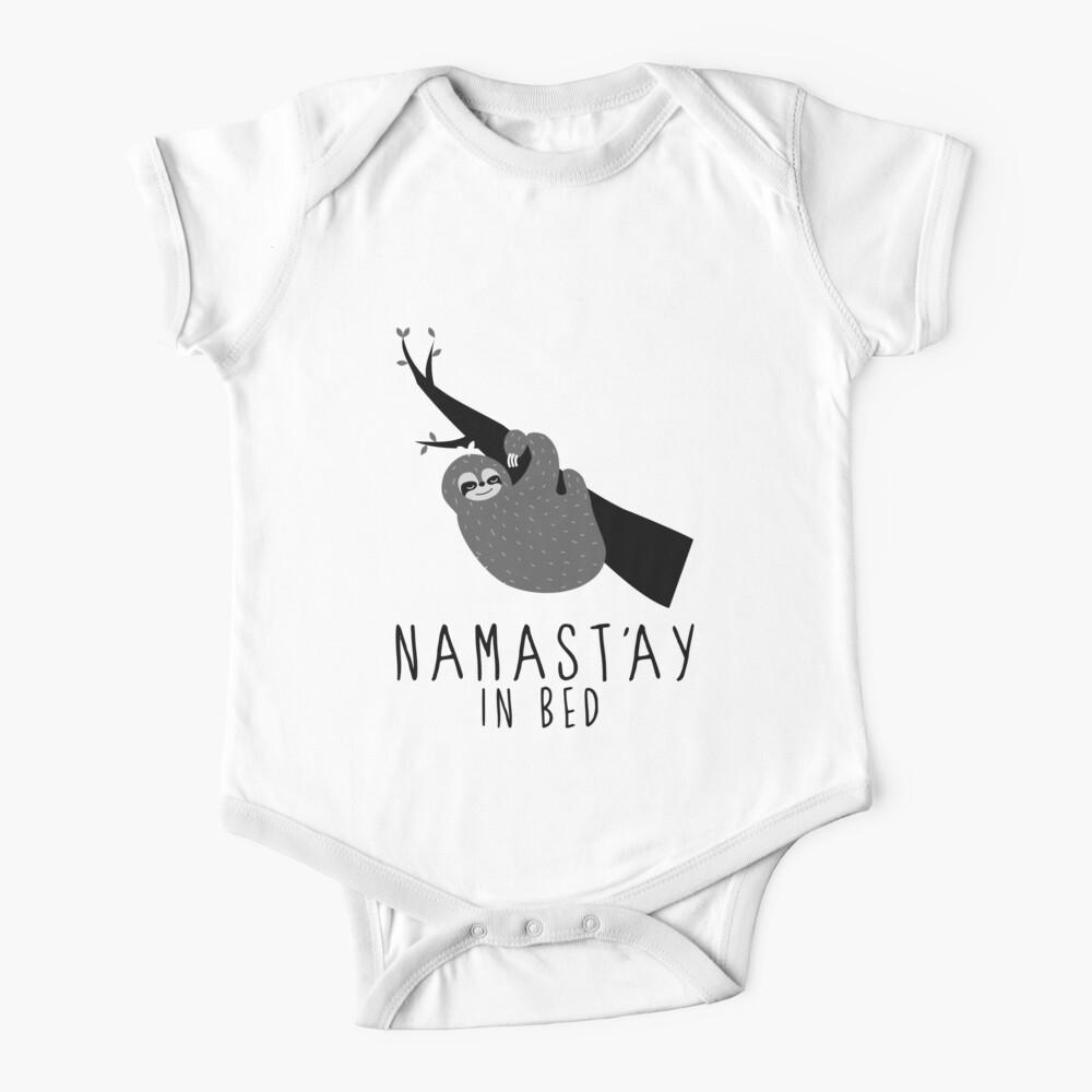 namast'ay en la cama perezoso Body para bebé