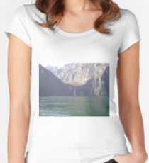 Milford Sound< New Zealand Women's Fitted Scoop T-Shirt