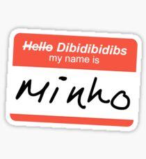 Hello/Dibidibidibs My Name Is Minho Sticker