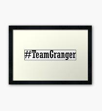 Team Granger Framed Print