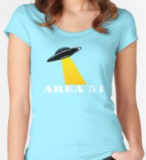 Cool Alien Hello T-shirt Emoticon Martian UFO Smile Tshirt Women's Fitted Scoop T-Shirt
