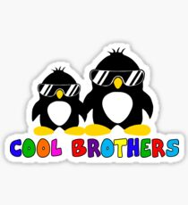 Cool Brothers PenguinT-shirt Big Funny Brother Tshirt Sticker