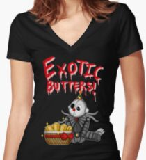 Ennard's Exotic Butters Women's Fitted V-Neck T-Shirt