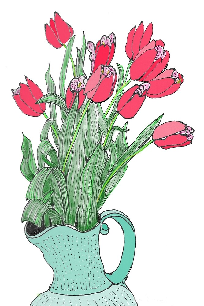 Springtime Tulips * by James Lewis Hamilton