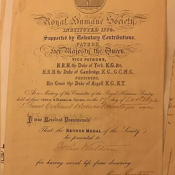 Royal Humane Society Certificate by emimarie