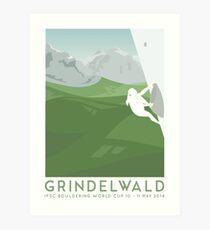 IFSC Bouldering World Cup - Grindelwald Art Print