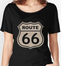 Route 66 sign illustration Women's Relaxed Fit T-Shirt