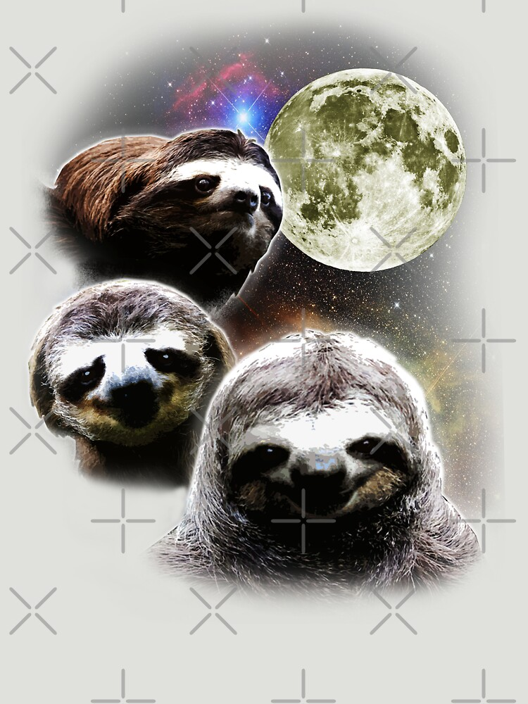 Funny Space Sloths  by robotface