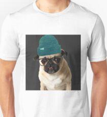 Thug Pug Hipster Dog Unisex T-Shirt