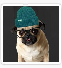 Thug Pug Hipster Dog Sticker