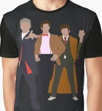 Doctor Who - 4 Modern Doctors Graphic T-Shirt