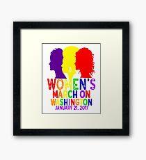 LGBTQ Gay Pride Rainbow Lesbian Womens March On Washington January 21 2017 WMW Inauguration Civil Rights Nasty Framed Print