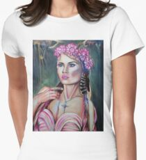 Little Wanderer Original Oil Painting Prints Womens Fitted T-Shirt